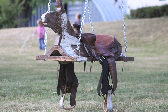 Horse And Saddle Swing
