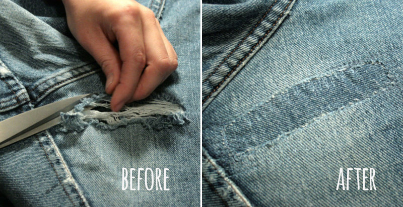How To Fix Holes In Jeans