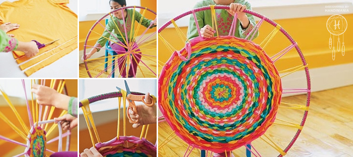 How To Make Hula Hoop T Shirt Rug Diy Amp Crafts Handimania