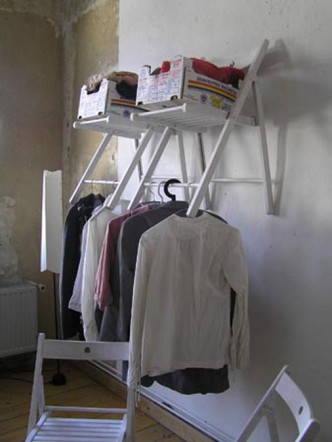 garderobe aus ikea st hlen handsome powered by copypastelove. Black Bedroom Furniture Sets. Home Design Ideas