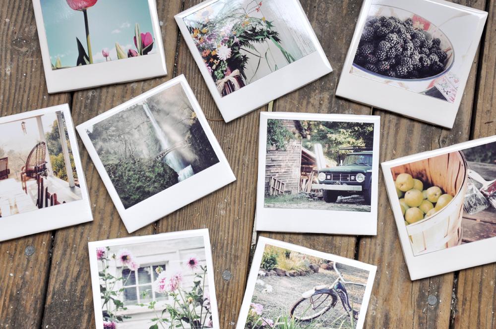 Instagram Polaroid Coasters