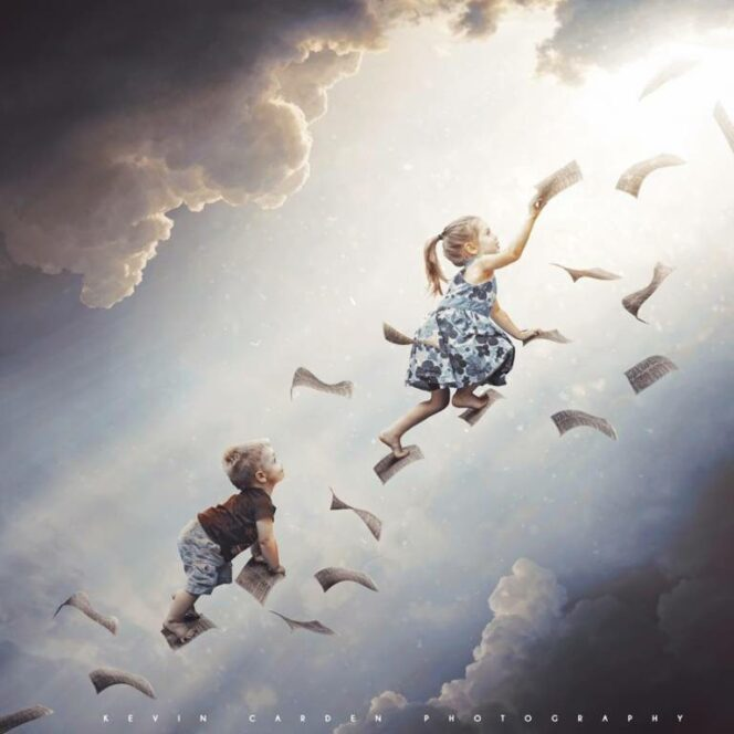 An Artist Takes Photos of His Daughter. Then, with Photoshop, Takes Them into Another Dimension