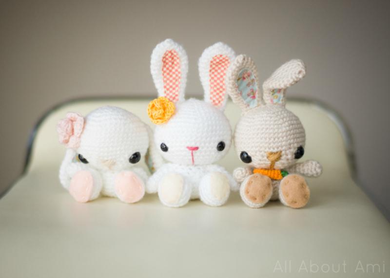 Amigurumi Rabbit Face : How to Make Little Crochet Bunnies - Crochet - Handimania