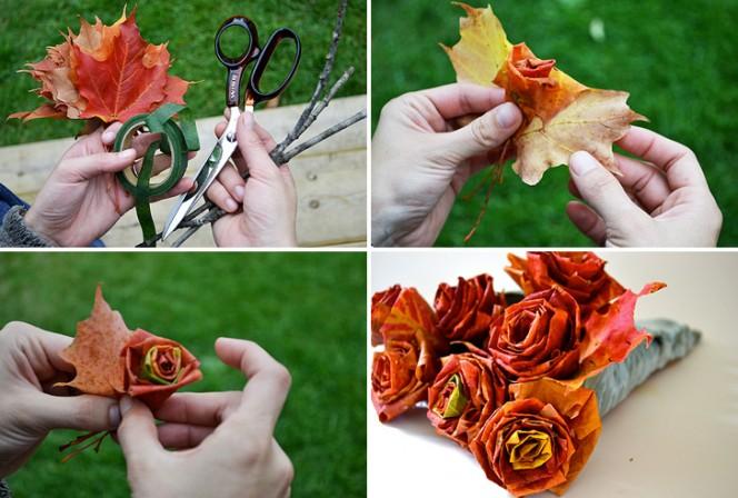 Maple Leaf Roses Collage
