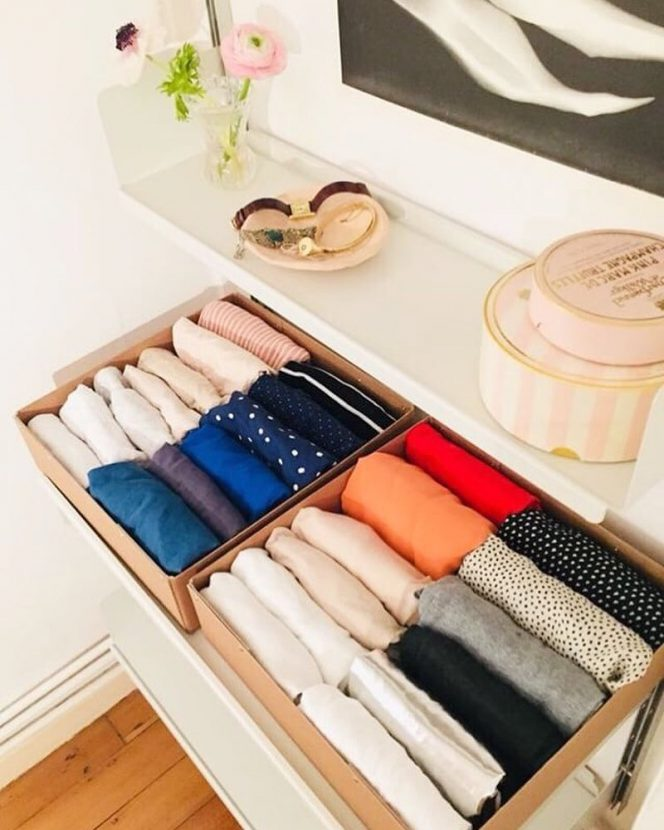 Easy Way to Organise Your Clothes with Marie Kondo. Fold Your Clothes and Enjoy!