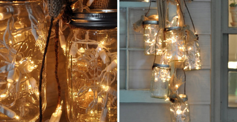 how to make mason jar light diy crafts handimania. Black Bedroom Furniture Sets. Home Design Ideas