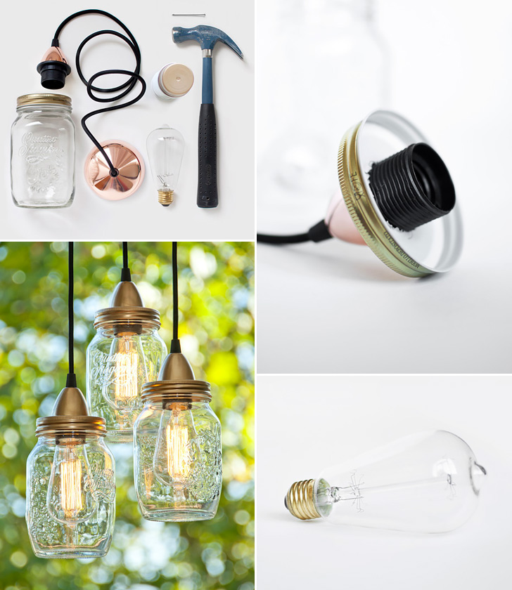 How to make mason jars pendant lamp diy crafts handimania mason jars pendant lamp mozeypictures Image collections