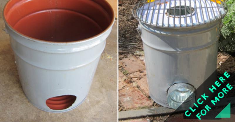 How To Make Metal Bucket Rocket Stove Diy Amp Crafts