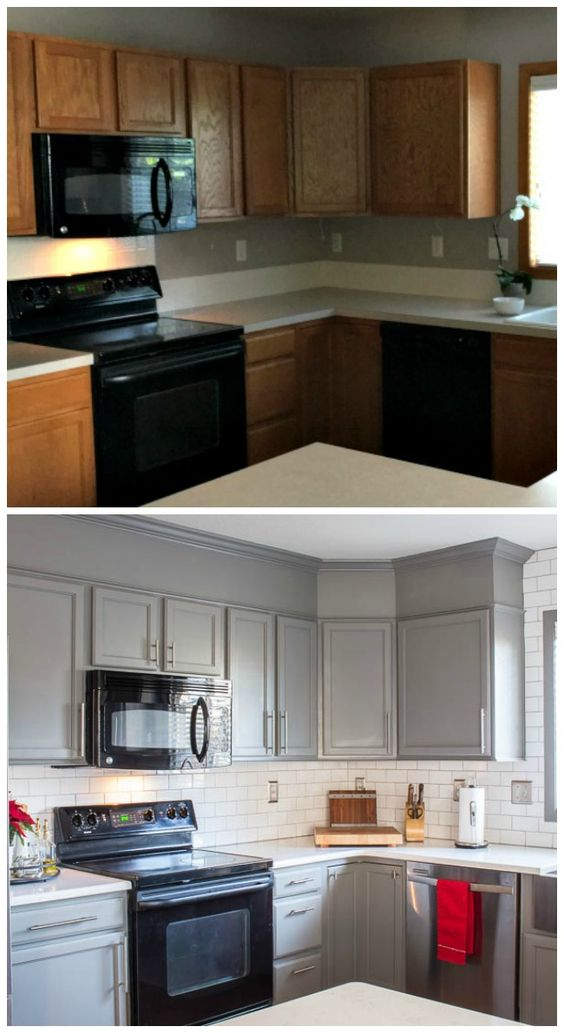 9 examples of how the colour of cabinet doors can change old kitchen