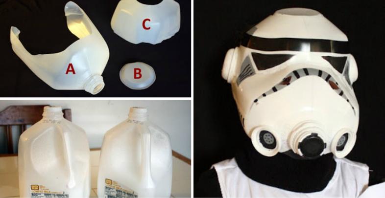 How to Make Milk Jug Storm Trooper Helmet - DIY & Crafts ...