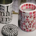 Mosaic Tin Can Containers