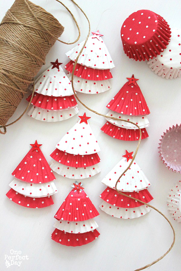 christmas cupcake liner craft ornament top 23 easy and beautiful tree ornament 6046