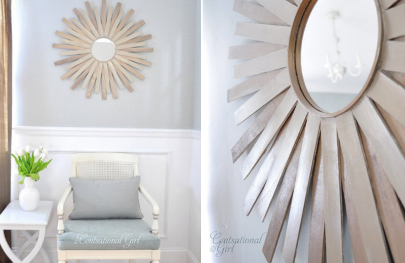paint stick sunburst mirror 04