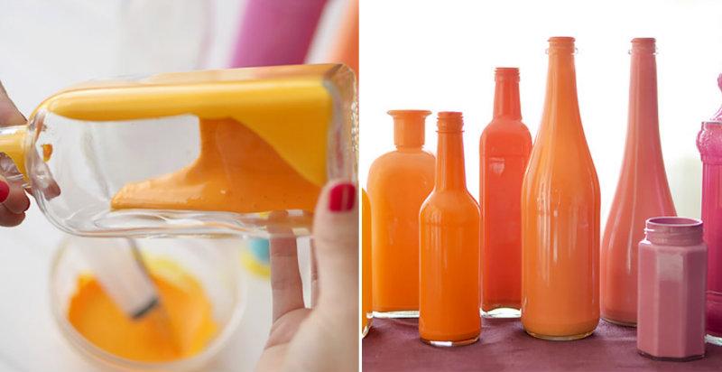 How to Make Painted Bottle Vases DIY & Crafts Handimania