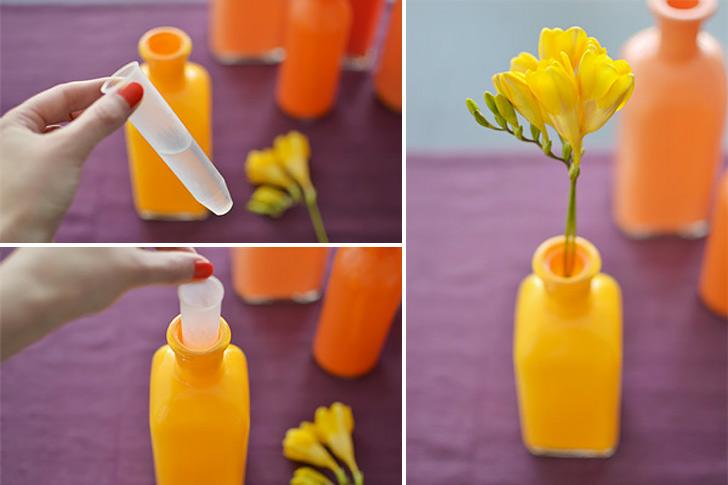Painted Bottle Vases 07
