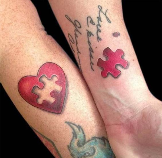 20 Tattoos for Couples in Love. They Bind the Lovers Forever
