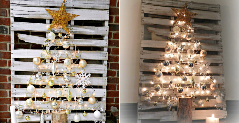 How to Make Pallet Christmas Tree - DIY & Crafts - Handimania