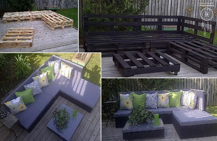 Outdoor Patio Furniture Made From Pallets how to make pallet patio furniture - diy & crafts - handimania