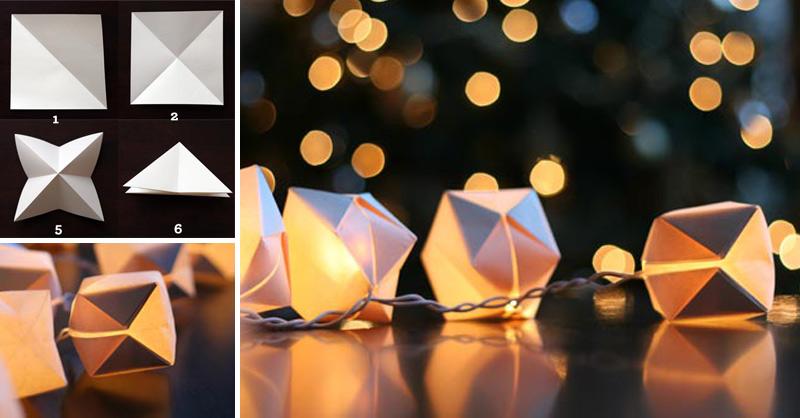 Paper Cube String Lights fb