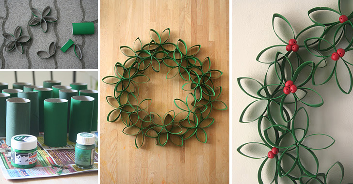 How To Make Paper Roll Christmas Wreath Diy Amp Crafts Handimania