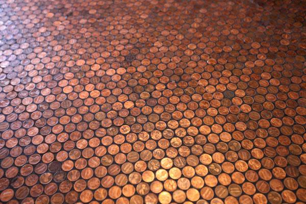 Penny floor for Floor of pennies