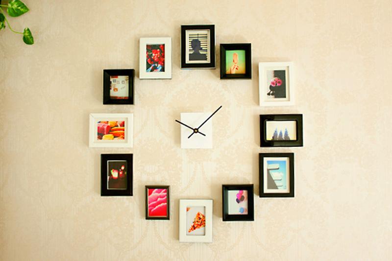 Как сделать часы с рамками