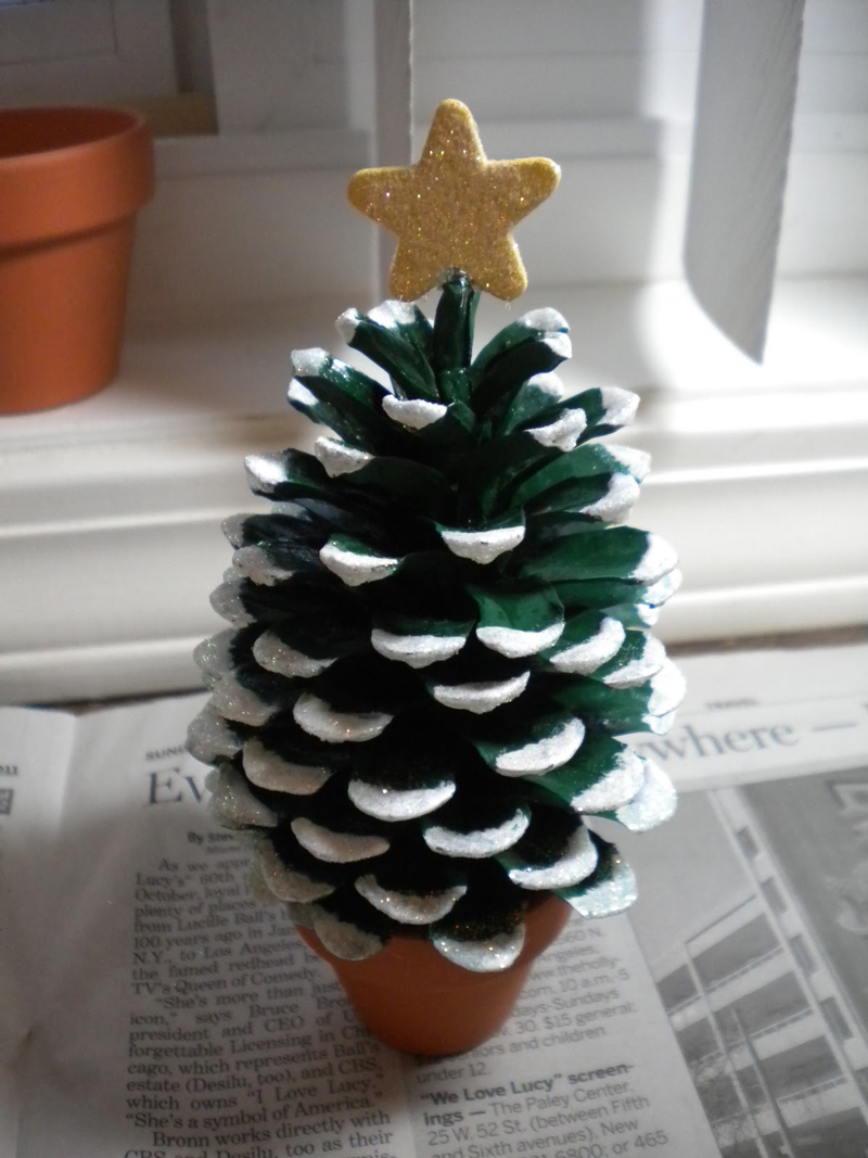 How To Make Pine Cone Christmas Tree DIY Crafts Handimania - Pine Cone Christmas Trees
