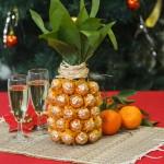 pineapple champagne bottle fi