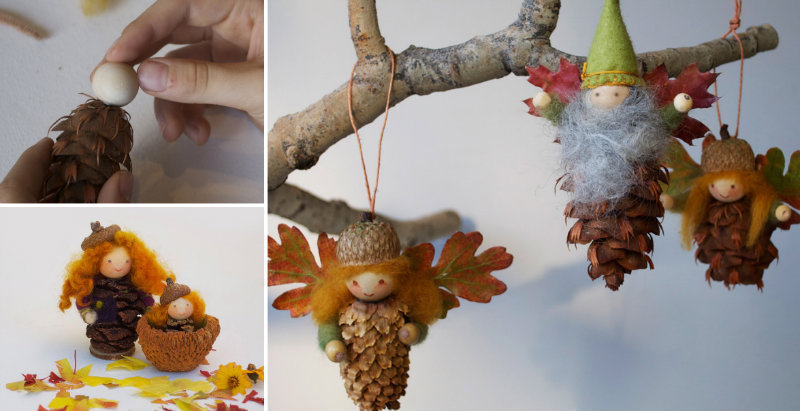 How To Make Pinecone Fairy Ornament Diy Amp Crafts