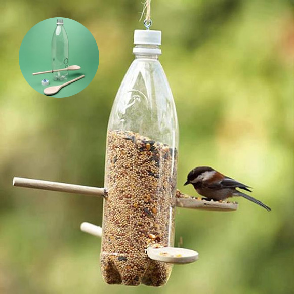 how to make plastic bottle bird feeder diy crafts