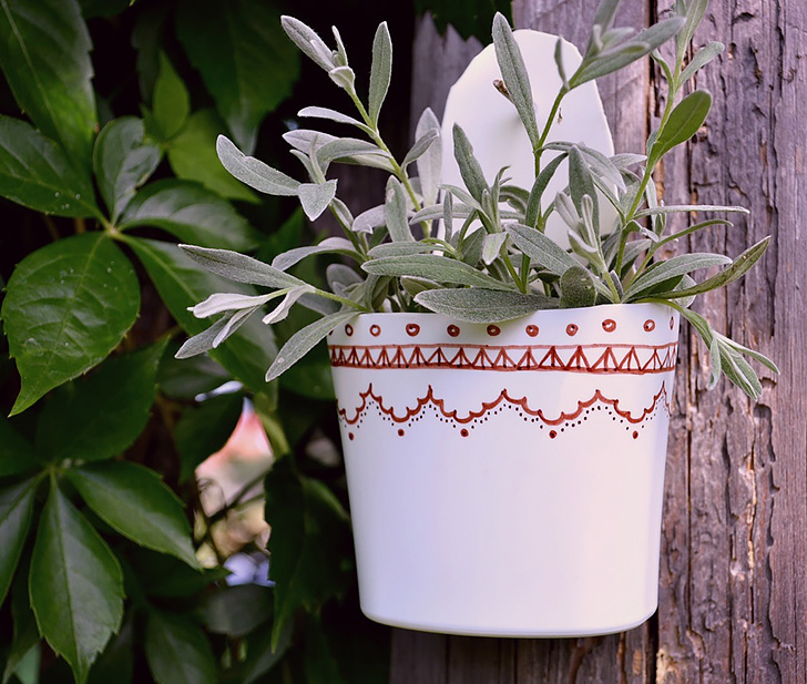 Plastic Bottle Flower Pot