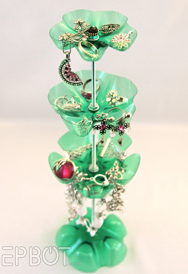 How to Make Plastic Bottle Jewelry Stand