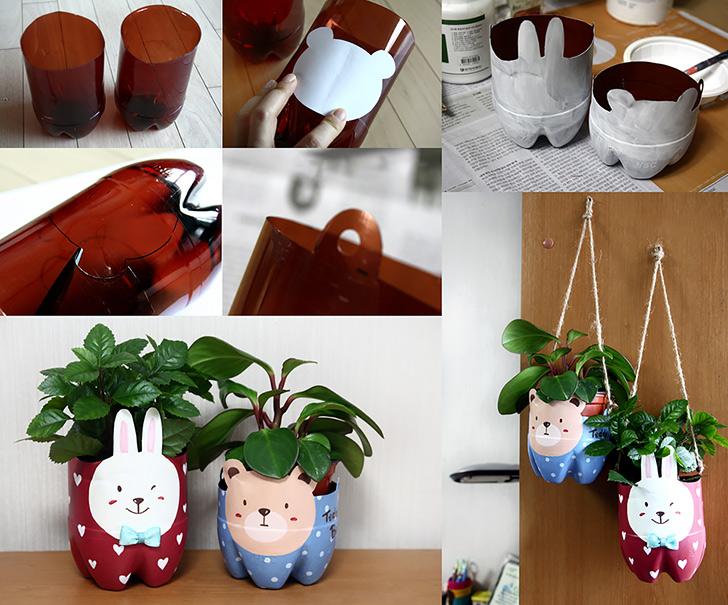 How To Make Plastic Bottle Pet Pot Diy Amp Crafts Handimania