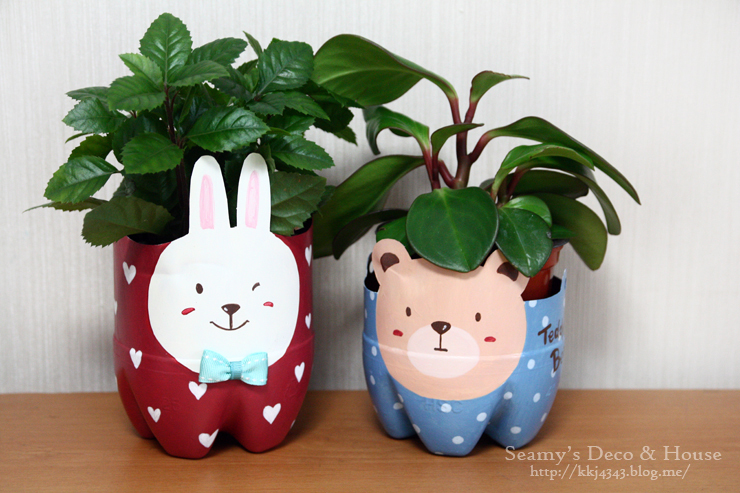 Plastic Bottle Pet Pot