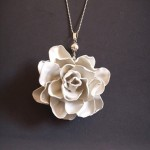 Plastic Spoon Flower Necklace
