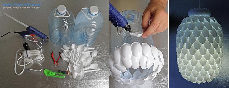 How To Make Plastic Spoon Lamp Diy Amp Crafts Handimania