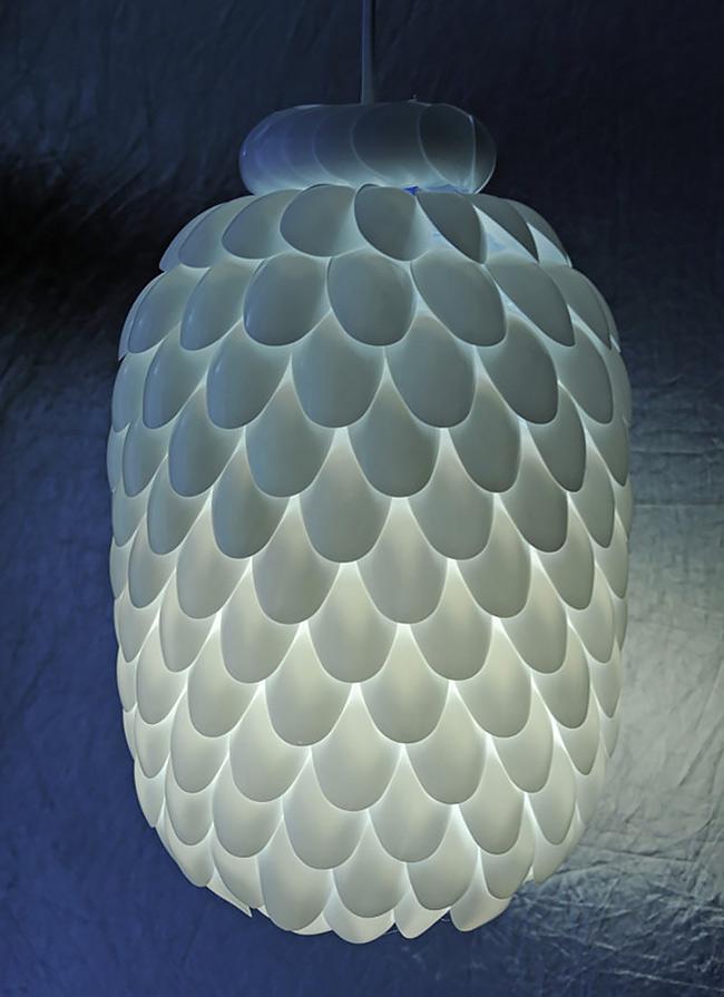How To Make Plastic Spoon Lamp Diy Crafts Handimania