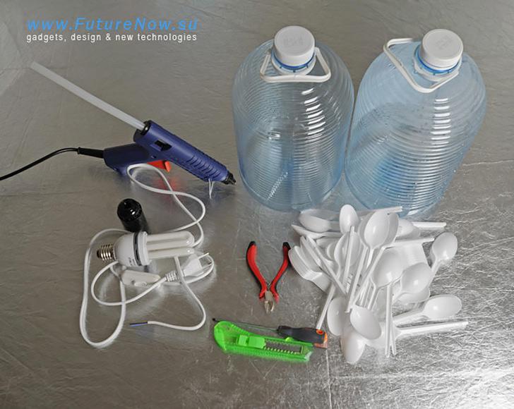 Plastic Spoon Lamp 01