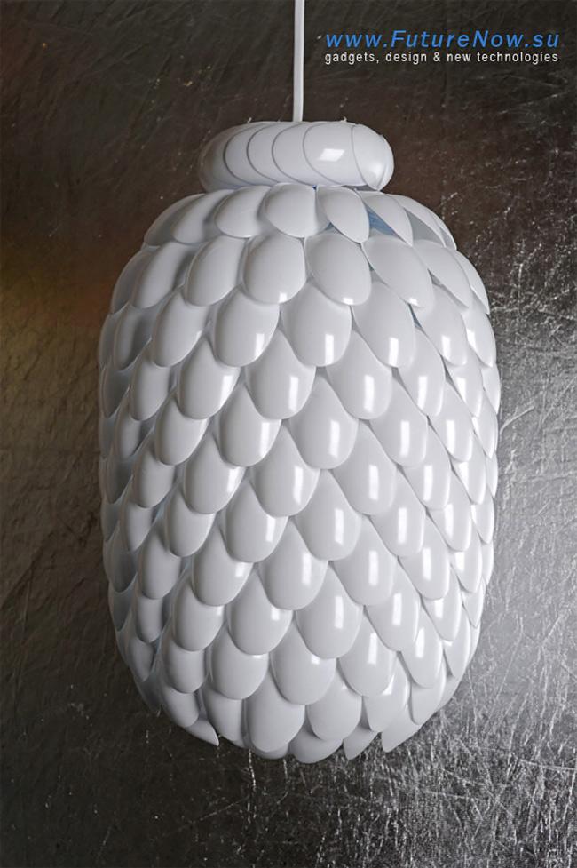 Plastic Spoon Lamp 07