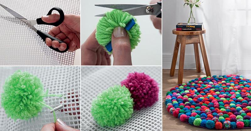 How To Make Pompom Rug Diy Crafts Handimania