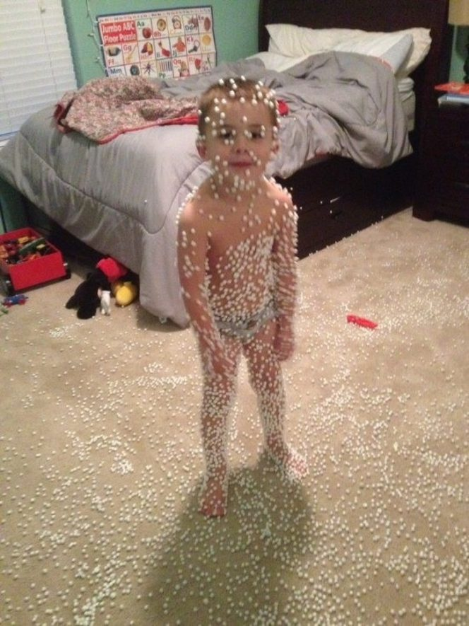 17 Kids and Pets That Really Messed Around. However, Their Sweet Reaction Let Them Get Away