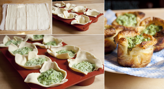 puff-pastry-spinach-cups-collage