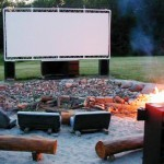 PVC Backyard Movie Screen