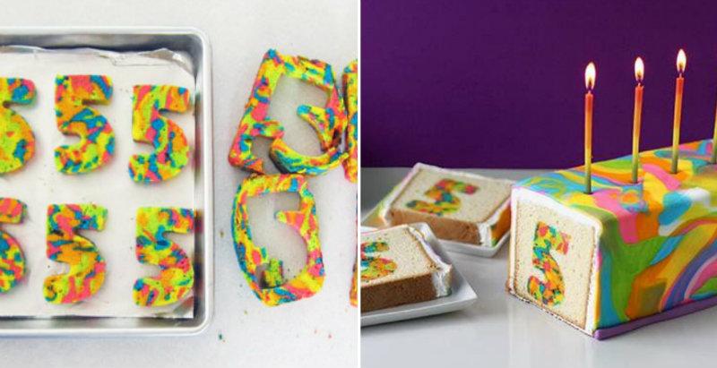 How To Make Rainbow Tie Dye Cake Cooking Handimania