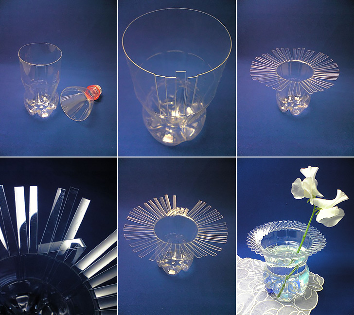 Recycled Plastic Bottle Vase