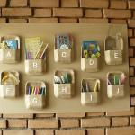 Recycled Styrofoam Wall Organizer