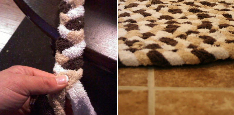 How To Make Recycled Towel Rug Sew Handimania