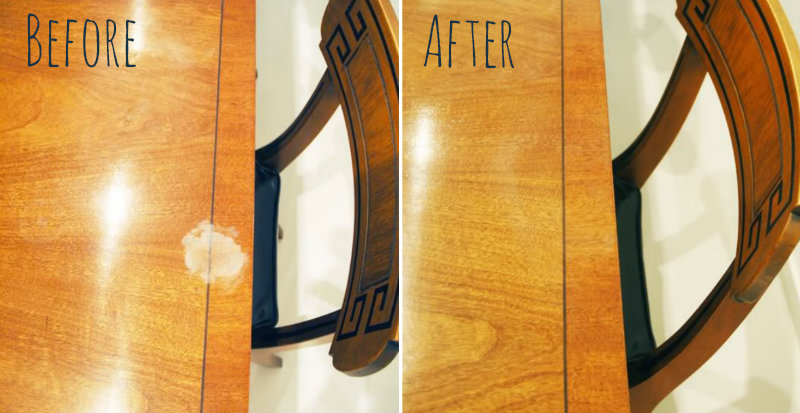 How To Make Remove White Heat Stains Diy Amp Crafts
