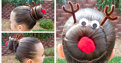 How To Make Rudolph Hairstyle Craftspiration Handimania