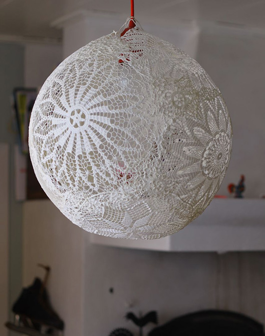 Rustic Lace Lamp